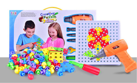 DIY 4 in 1 Creative Puzzle (design and drill) 193pcs