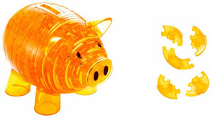 3D Crystal Puzzle - Piggy Bank (Gold)