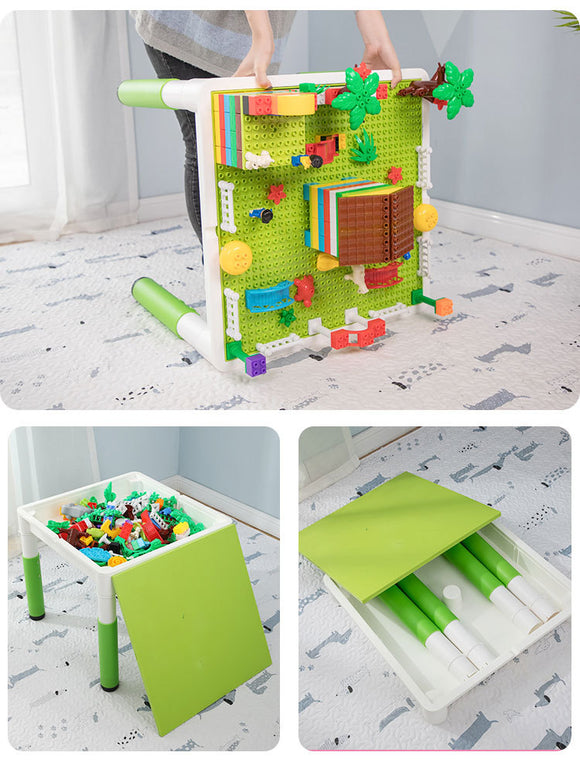 Liftable Multi-functional Building Blocks Table