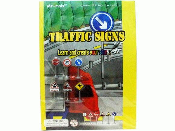 Coloring story book - Traffic Signs