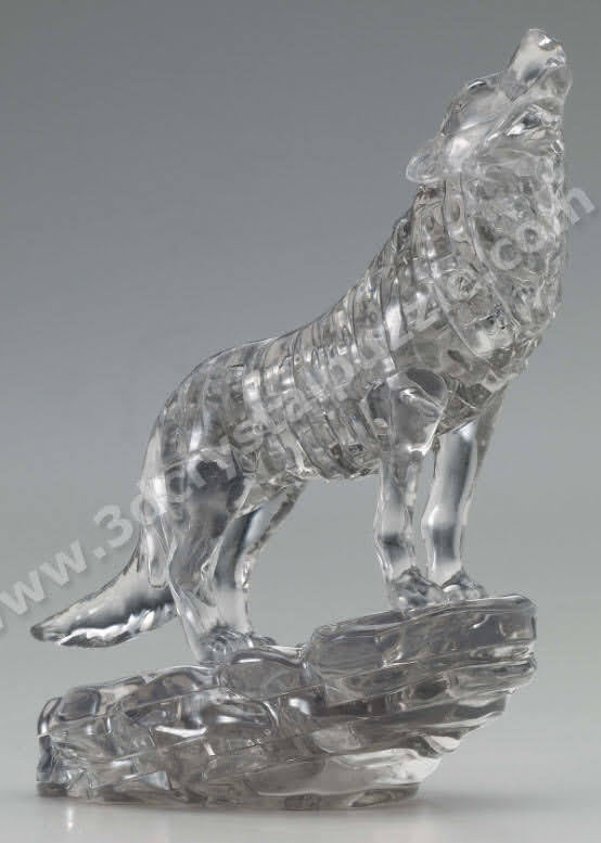 3D Crystal Puzzle - Wolf