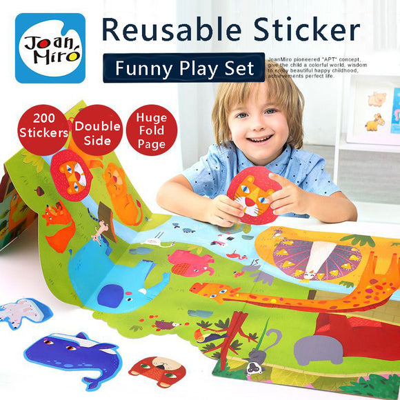 Joan Miro Reusable Sticker Funny Play Set