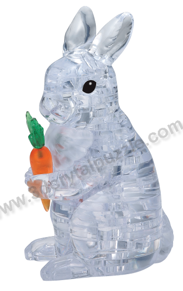 3D Crystal Puzzle - White Rabbit