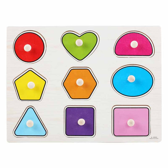 Wooden Puzzle w-handle - Shape