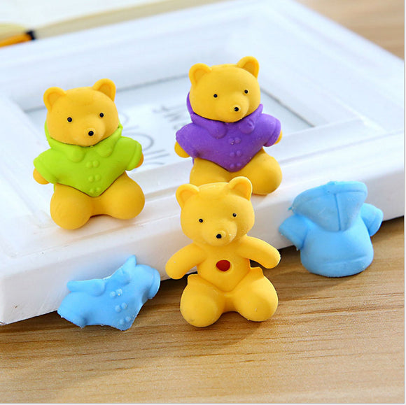 Little Bear Rubber (3pcs)