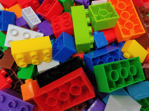 Me100fun Construction Blocks - Medium Bricks