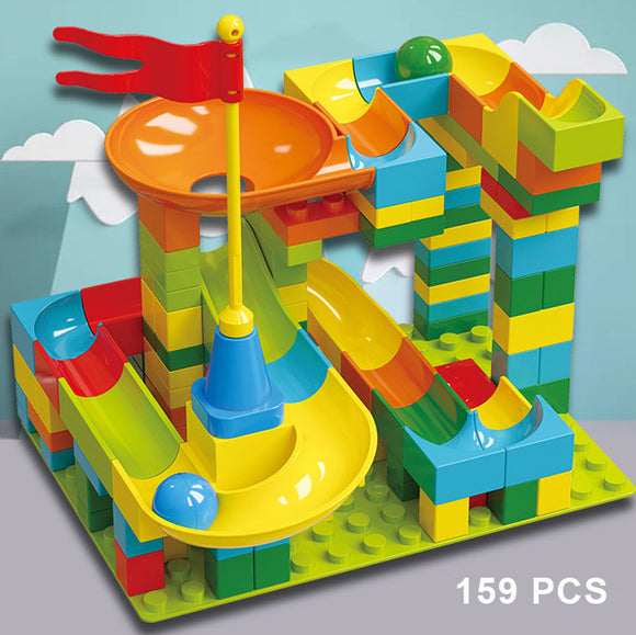 Marble Run Ball Track Building Blocks (159pcs)