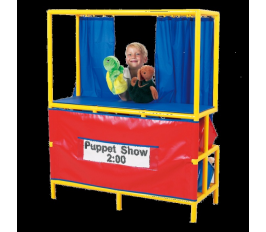 Puppet Stage W-Cubbies In Back