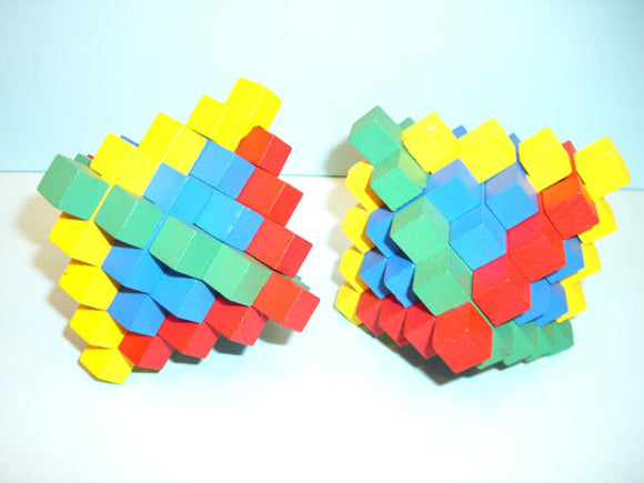 3D Wood Puzzle - Colour Pineapple