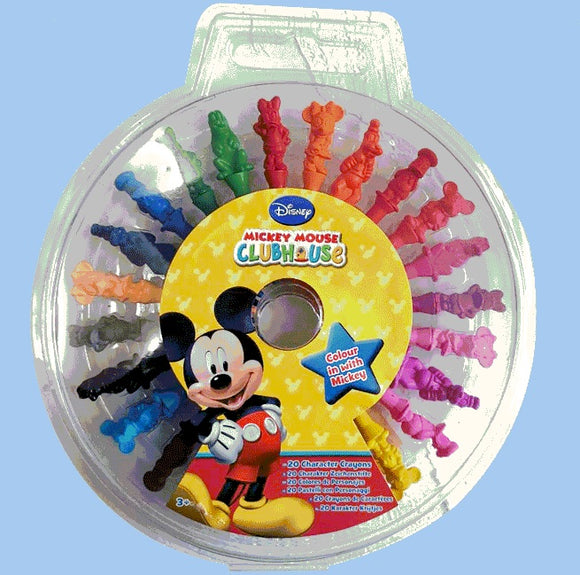 20 Color Disney Character Crayons
