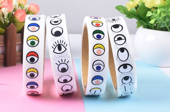 Eye mouth nose stickers (Tape)