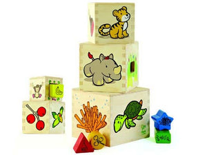 Animal Tower Stack & Nest Cubes with Shapes