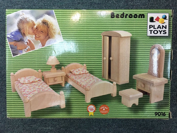 Wooden Doll House Furniture - Classic Bedroom