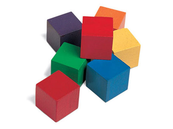 One-Inch Wooden Color Cubes (Set of 102)
