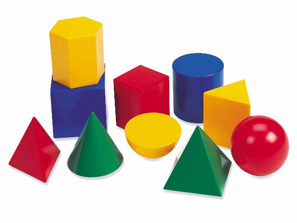 Large Plastic Geo Solids (Set-10)