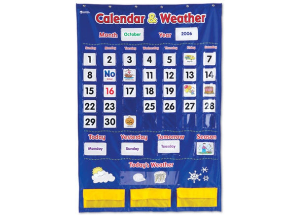 Calendar & Weather Pocket Chart