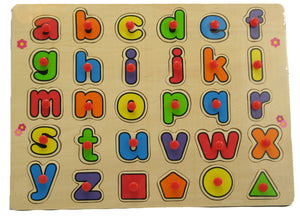 Wood Puzzle with handle - Alphabet