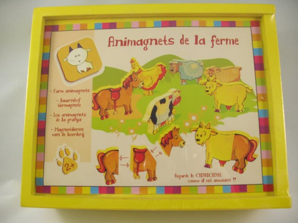Wood magnetic Animal Puzzle - Farm Animal