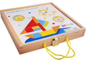 Wooden Magnetic Shapes Puzzle Whiteboard