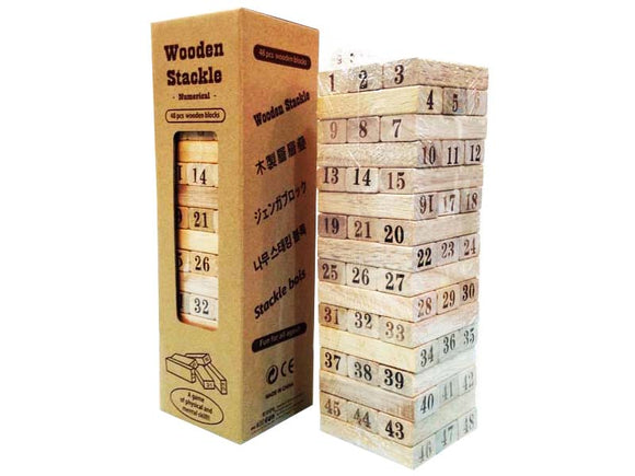 Wooden stackle - number