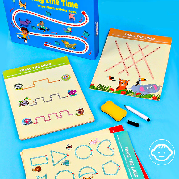Drawing Line Time Wipe-clean Activity Book