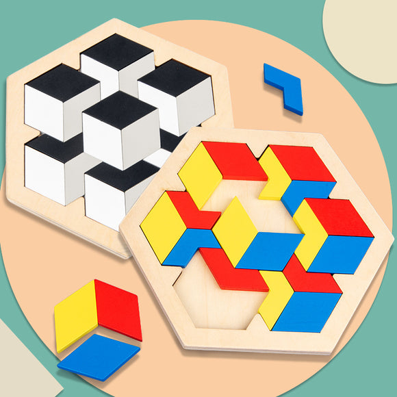 Wooden Hexagonal Puzzle