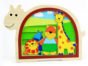 4-layer Animal Wooden Puzzle