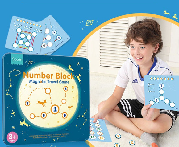 Saalin Number Block - Magnetic Travel Game