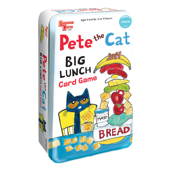 Mideer PETE THE CAT BIG LUNCH CARD GAME TIN
