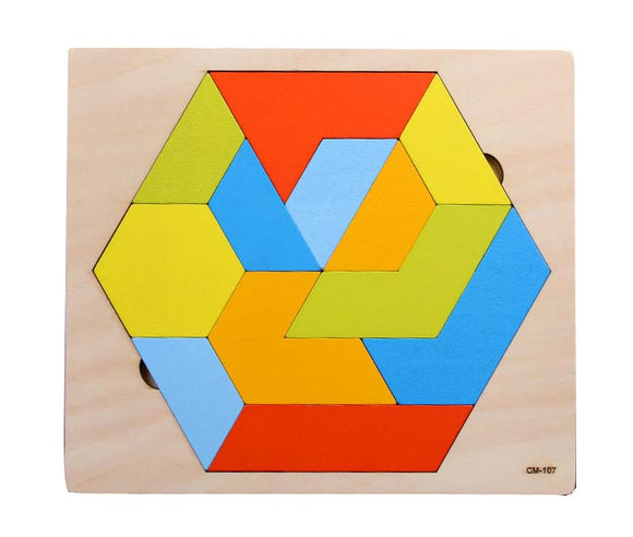 Wooden Puzzle - Hexagon