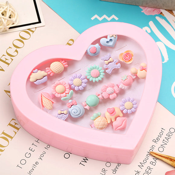 20pcs Plastic Lovely Rings for Child