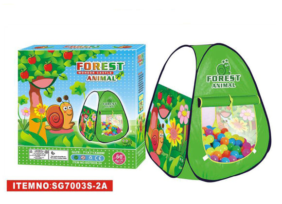 Wonder Castle Children Forest Animal Leisure Tent(50 Balls)