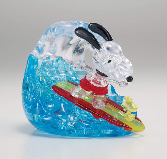 3D Crystal Puzzle - Surf Snoopy