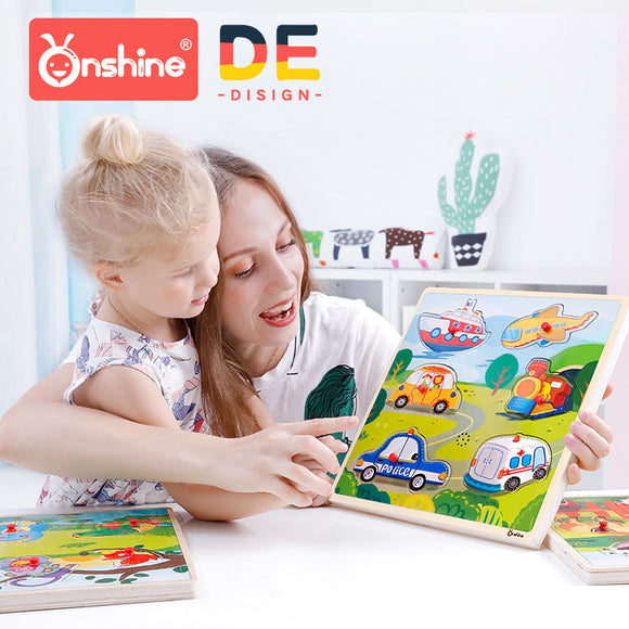Onshine Wooden Sound puzzle w/handle