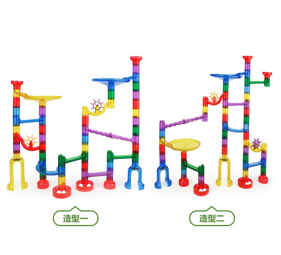 Translucent Marble Run-Pipe line Game (80 pcs)