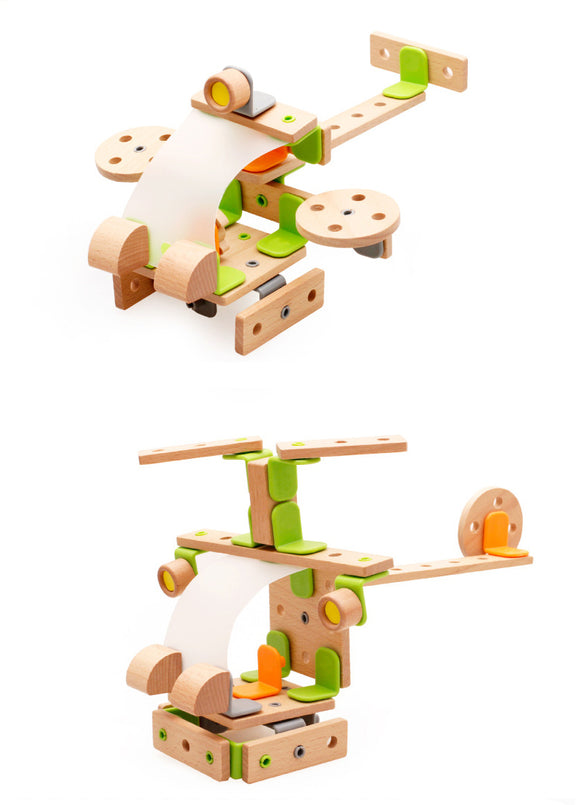 Wooden Creative Assembly Helicopter