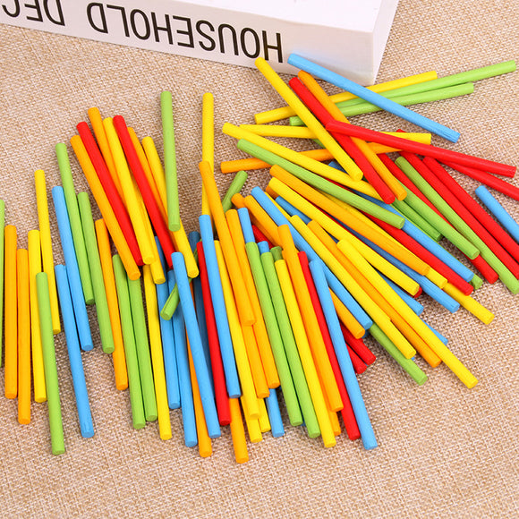 100pcs Wooden Counting Sticks