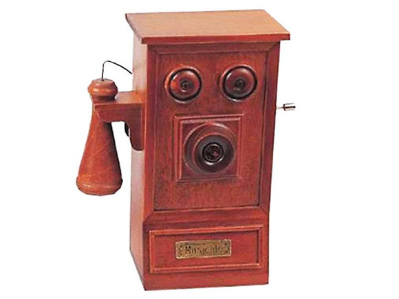 Classic Hand Crank Music Box - Telephone