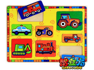 Wooden Puzzle - Vehicles