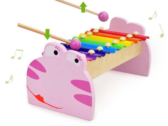 8 note Pink Frog Xylophone