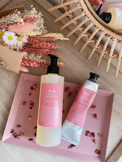 Rose and Geranium Hand Body Wash - MUD Urban Flowers