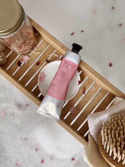 Rose and Geranium Hand Cream - MUD Urban Flowers