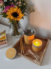 Amber Soy Wax Candle UK
