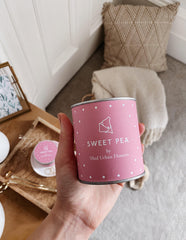 Sweet Pea Soy Wax Candle UK