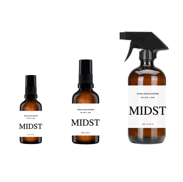 MIDST Hydra-Hand Sanitiser Spray Starter Set - Made By Ethereal