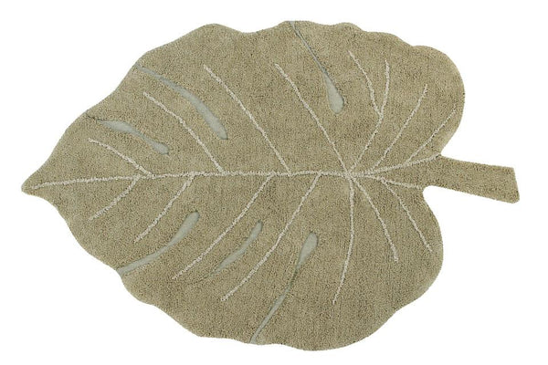 WASHABLE RUG MONSTERA OLIVE