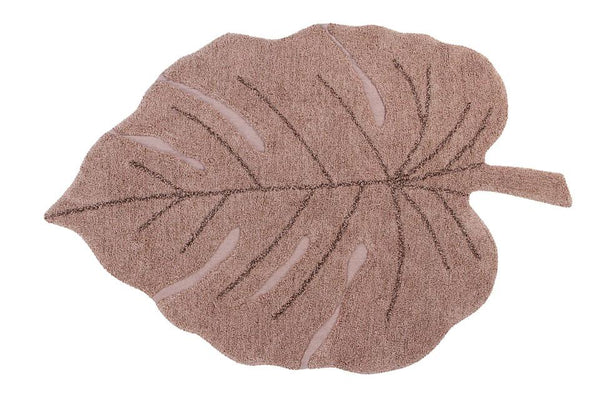 WASHABLE RUG MONSTERA VINTAGE NUDE