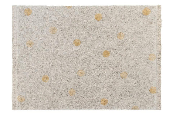 WASHABLE RUG HIPPY DOTS NATURAL - HONEY