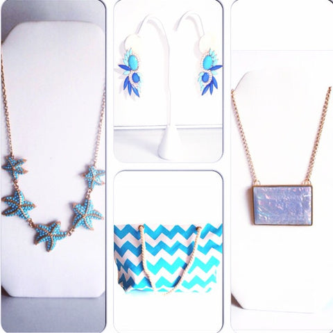 Get Noticed With Our Cobalt Blue And Turquoise Statement Earrings (Shown Top  Middle). Youu0027re Now Ready For The Water Baby!
