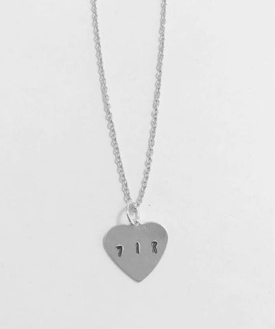 718 Inspired Heart Necklace